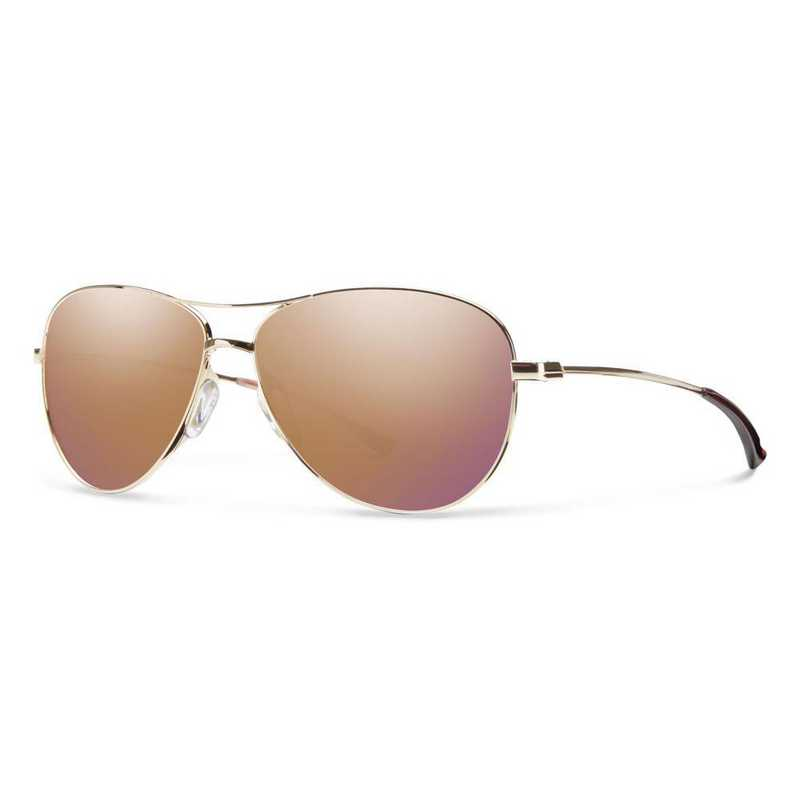 LAPCRGMGD: Smith Langley Sunglasses -  Gold/Rose Gold Mirror