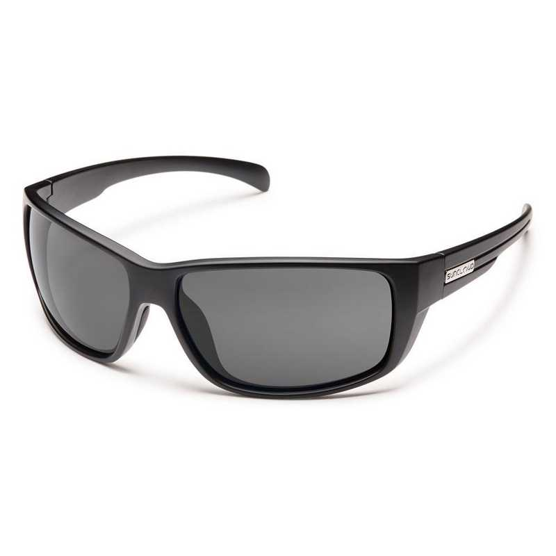 S-MIPPGYMB: Smith Suncloud Milestone Polarized Sunglasses -Matte BLK/Gry