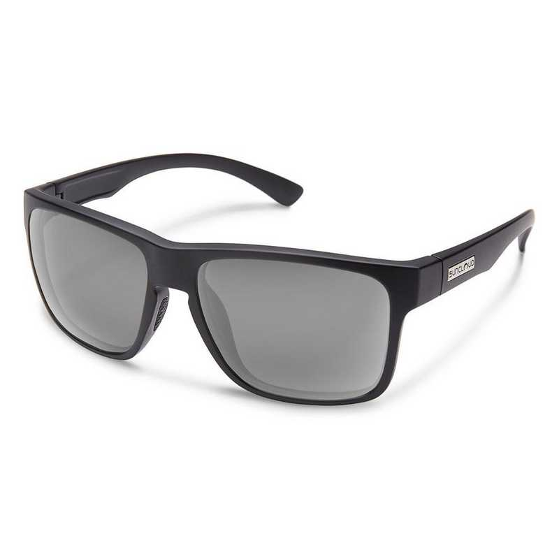 S-RBPPGYMB: Smith Suncloud Rambler Polarized Sunglasses - Matte BLK/Gray