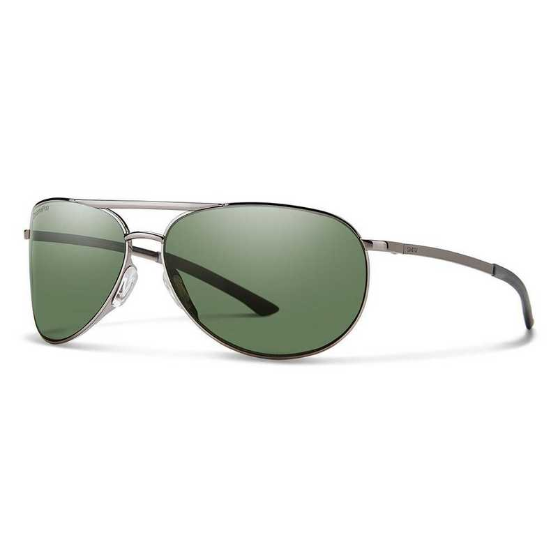 SS2CPGNGM: Smith Serpico Slim 2 Polarized Sunglasses -Gunmetal/Gray GRN