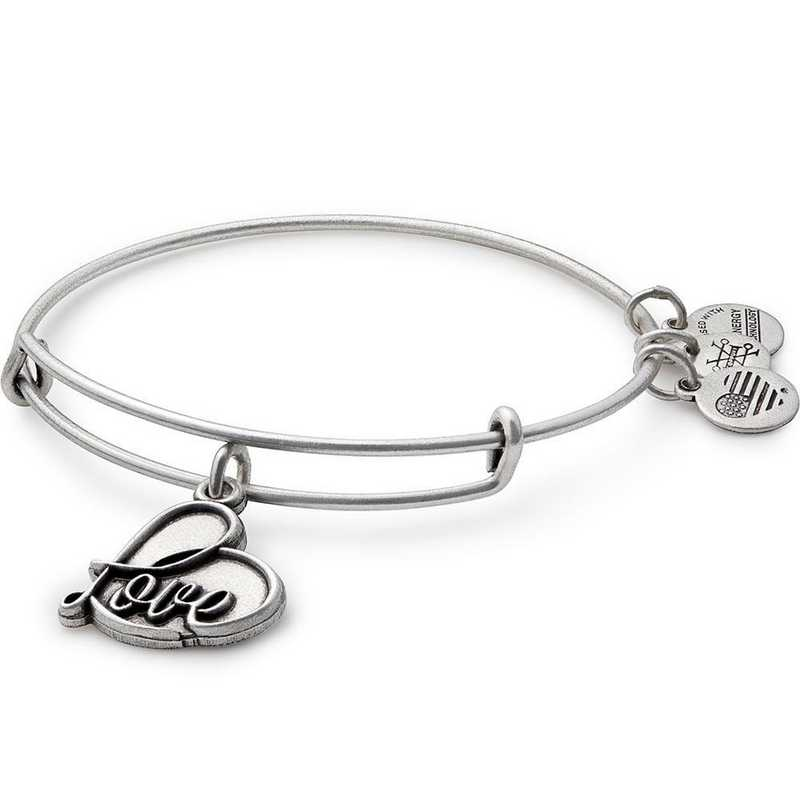 A17EB05RS: Love Charm Bangle - Rafaelian Silver Finish
