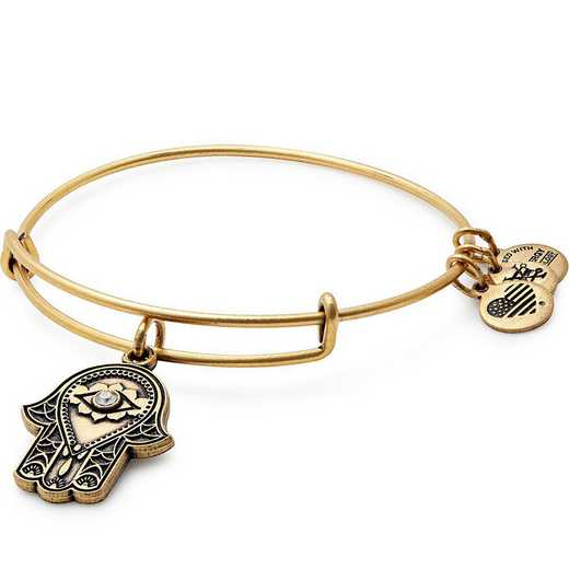 A17EB27RG: Hand of Fatima Charm Bangle - Rafaelian Gold Finish