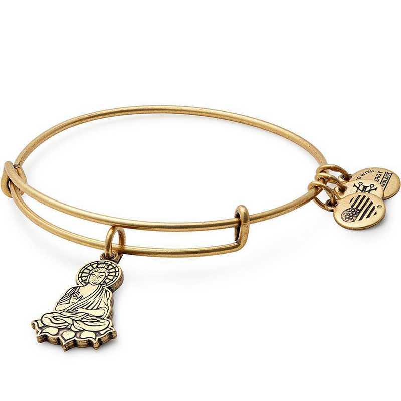 A17EB32RG: Buddha Charm Bangle - Rafaelian Gold Finish