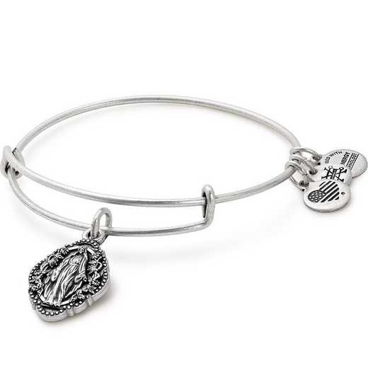 A17EB53RS: Mother Mary Charm Bangle Rafaelian Silver Finish