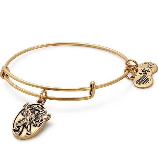 A17EBAMRG: Archangel Michael Charm Bangle - Rafaelian Gold Finish