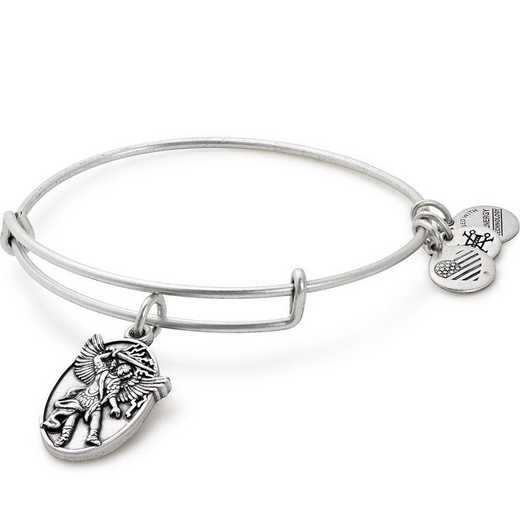 A17EBAMRS: Archangel Michael Charm Bangle - Rafaelian Silver Finish