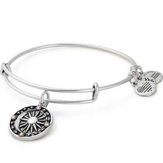 A17EBCBRS: Cosmic Balance Charm Bangle - Rafaelian Silver Finish