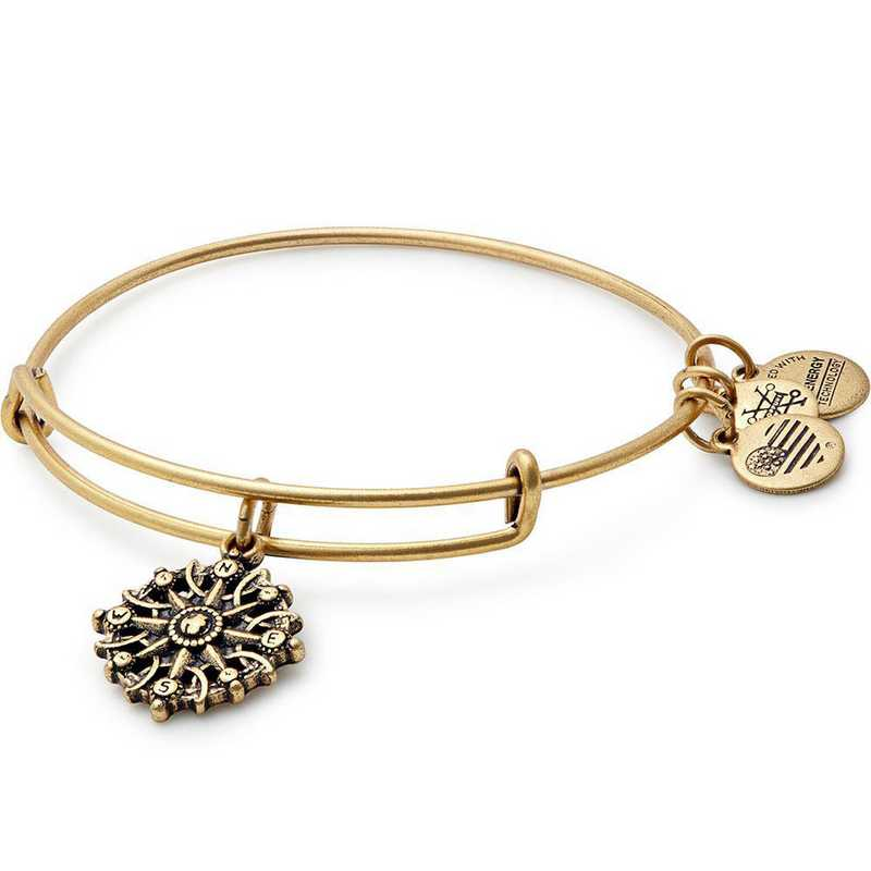 A17EBCOMPRG: Compass Charm Bangle - Rafaelian Gold Finish