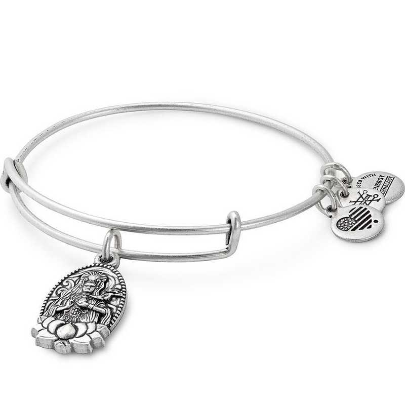 A17EBGYRS: Guan Yin Bangle - Rafaelian Silver Finish