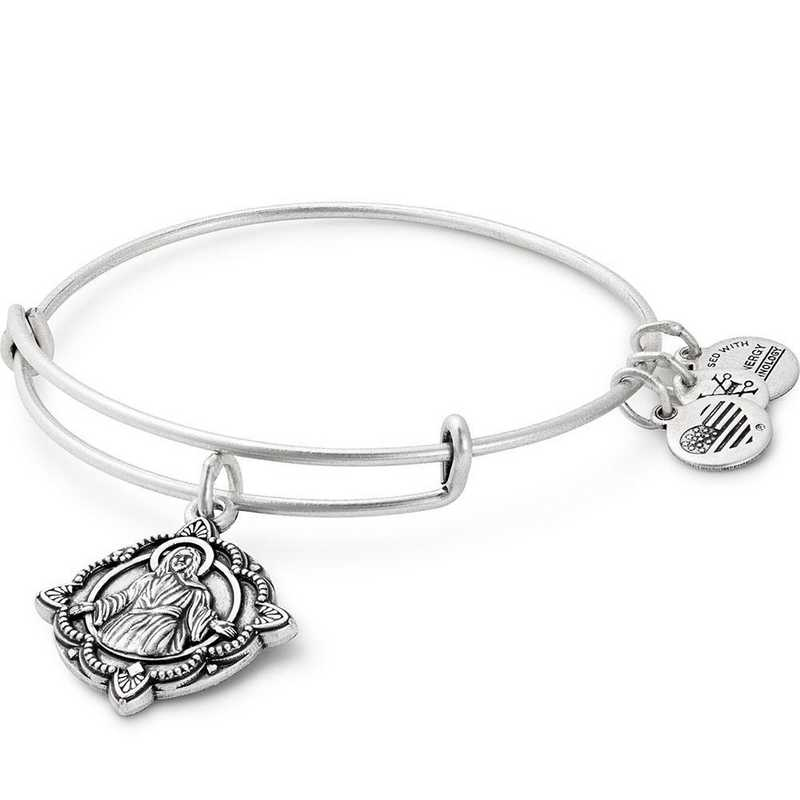 A17EBJSRS: Jesus Bangle - Rafaelian Silver Finish