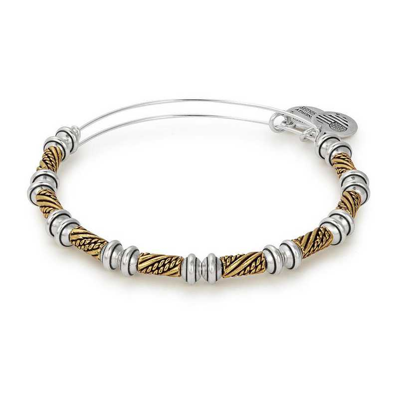 A17EBQLTT: Quill Two Tone Beaded Bangle