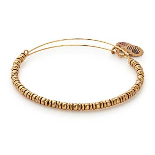 A17EBROCRG: Rocker Beaded Bangle - Rafaelian Gold Finish