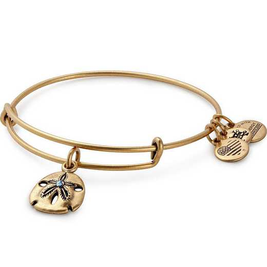 A17EBSNDRG: Sand Dollar Charm Bangle - Rafaelian Gold Finish