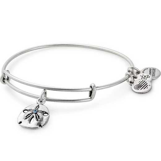 A17EBSNDRS: Sand Dollar Charm Bangle - Rafaelian Silver Finish