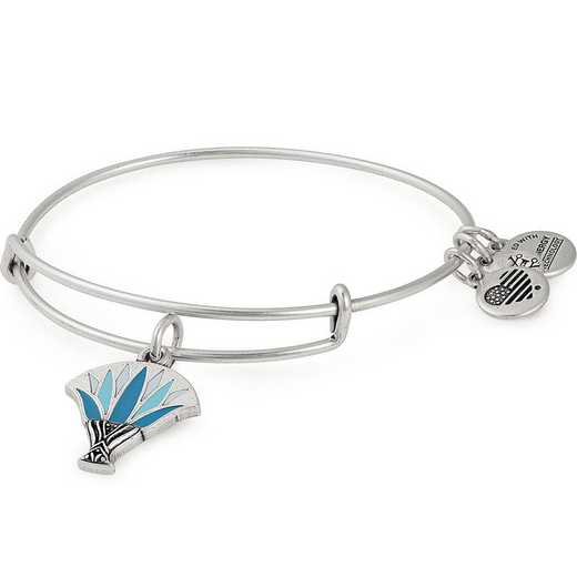 A18EBBLRS: Blue Lotus Bangle - Rafaelian Silver Finish