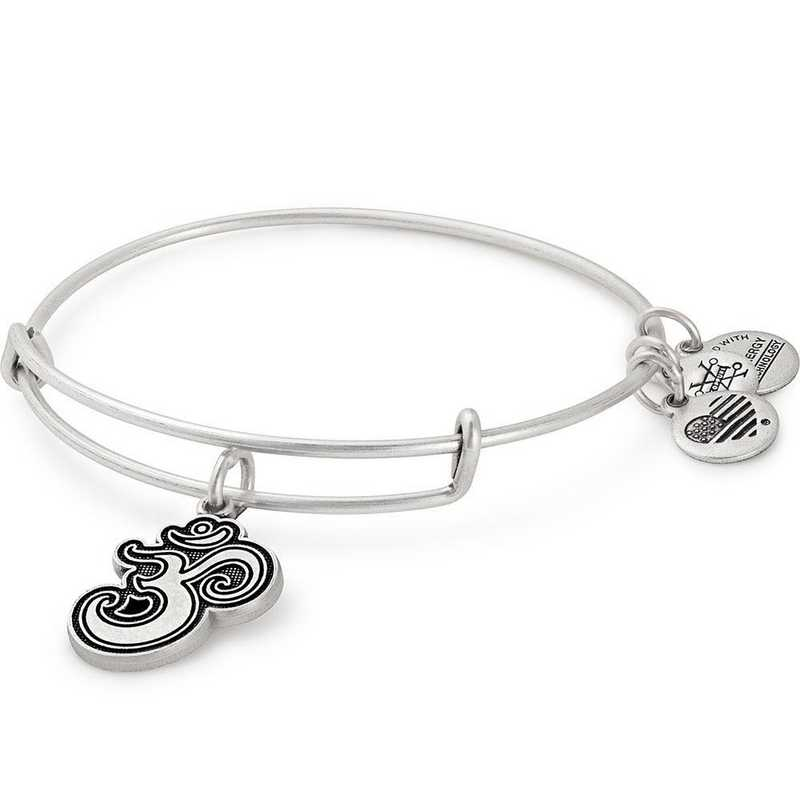A18EBOMRS: Om Bangle - Rafaelian Silver Finish