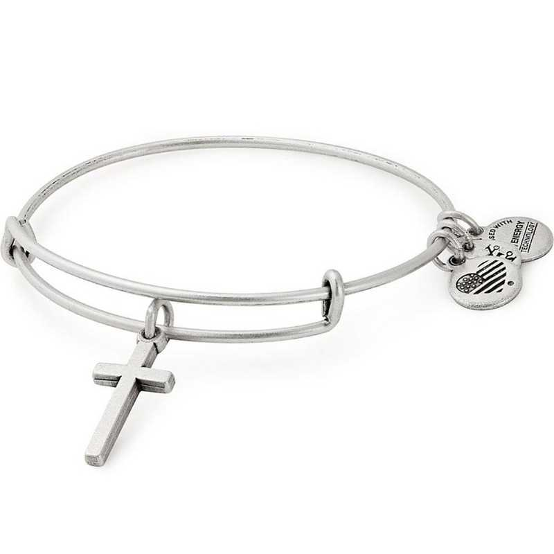 A18HOL12RS: Cross Bangle - Rafaelian Silver Finish