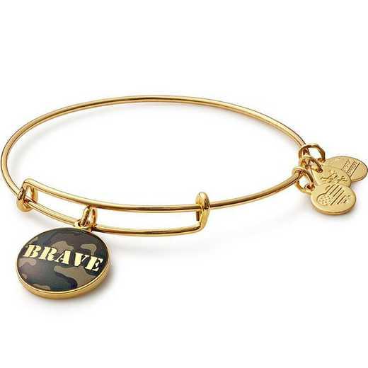 AS16AF02YG: Brave Bangle - Shiny Gold Finish