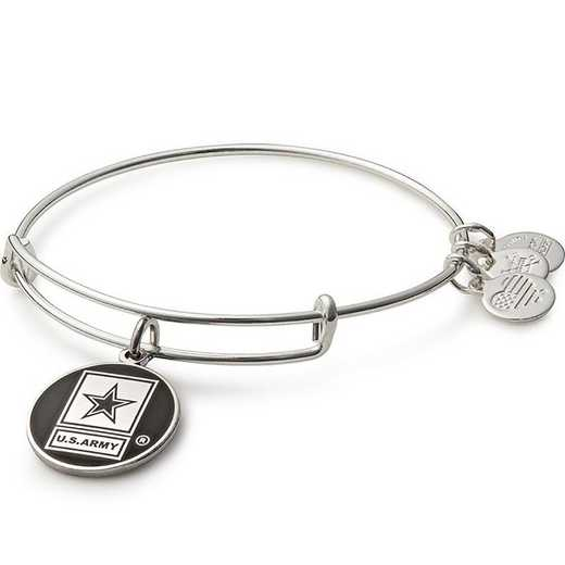 AS16ARMYSS: U.S. Army Bangle - Shiny Silver Finish