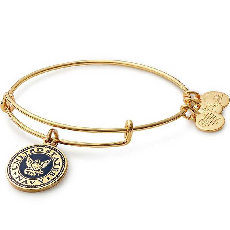 AS16USNYG: U.S. Navy Bangle - Shiny Gold Finish