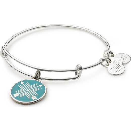 CBD15AOFSS: Arrows of Friendship Charm Bangle - Shiny Silver Finish