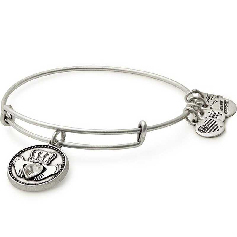 CBD17CLDRS: Claddagh Charm Bangle - Rafaelian Silver Finish
