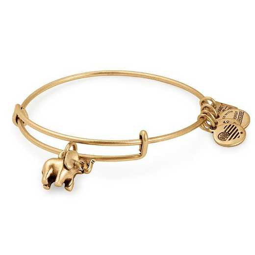 CBD17EFRG: Elephant Charm Bangle - Rafaelian Gold Finish