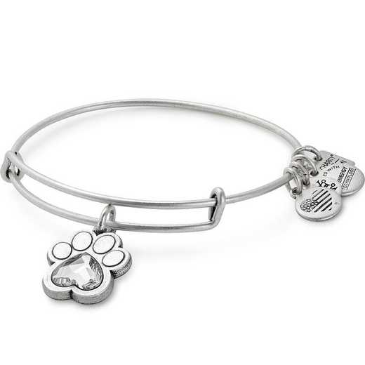 CBD17POLRS: Prints of Love Charm Bangle - Rafaelian Silver Finish