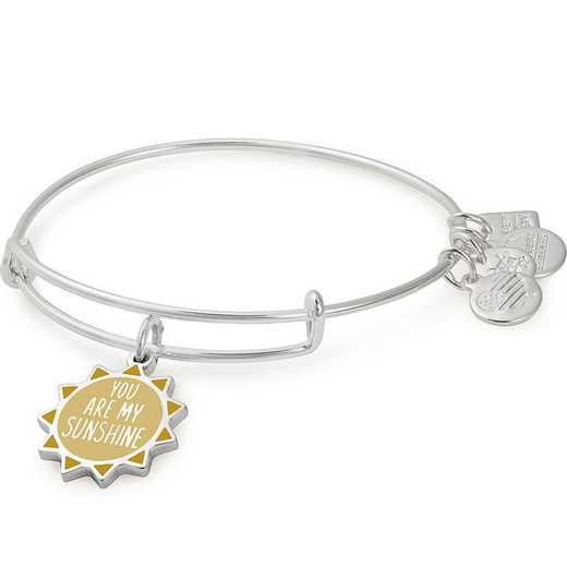 CBD18YAMS01SS: You Are My Sunshine Charm Bangle - Shiny Silver Finish