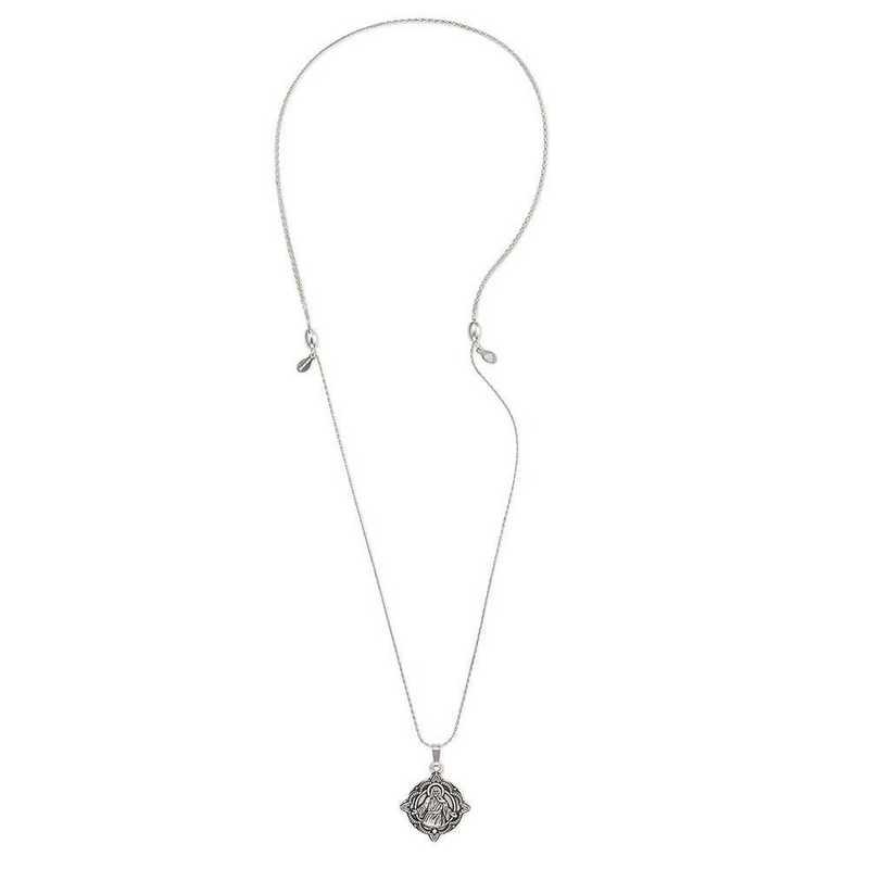 A18HOL03RS: Jesus Expandable Necklace - Rafaelian Silver Finish