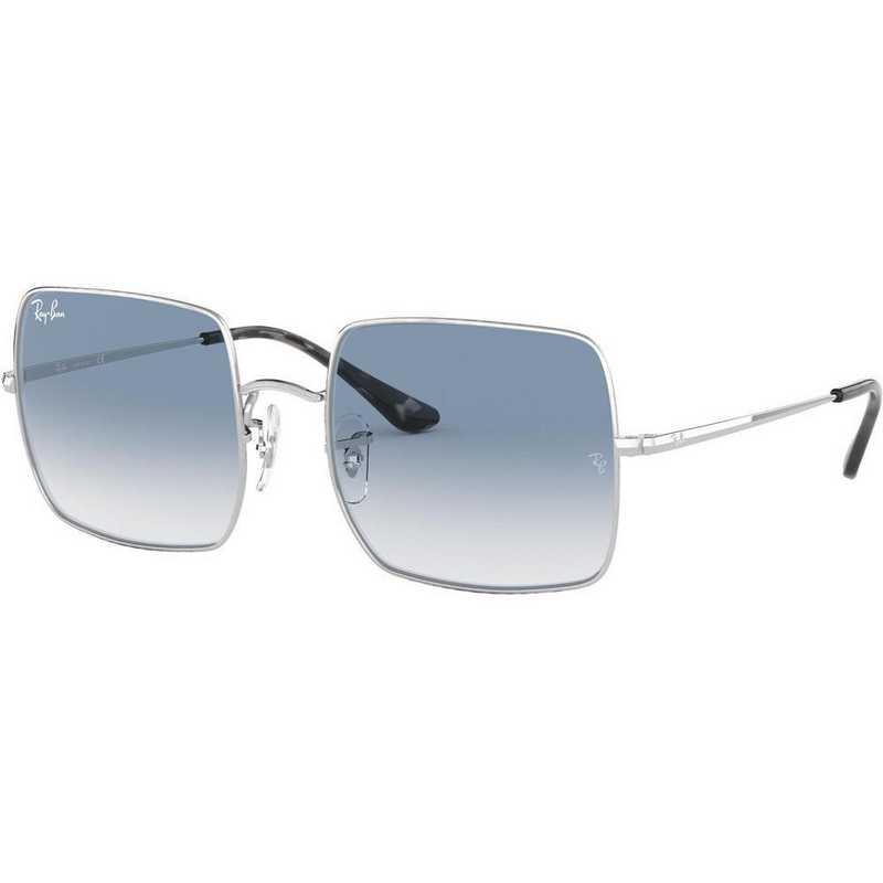 0RB19719149AD54: Square Evolve Sunglasses - Silver/Light Blue Photocromic