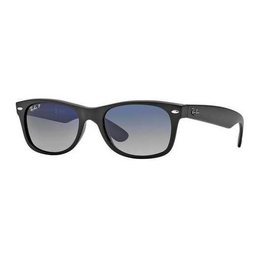0RB2132601S78: Polarized New Wayfarer Sunglasses - Matte Black/Blue