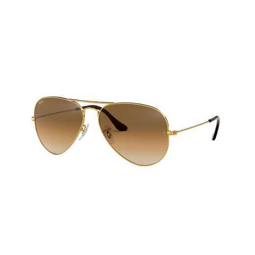 0RB30250015158: Aviator Sunglasses - Light Brown