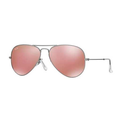 0RB3025019Z258: Aviator Sunglasses - Silver/Pink Flash