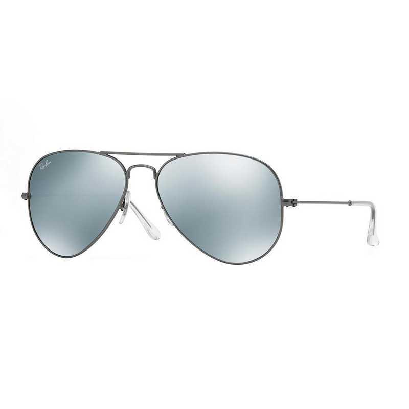 0RB30250293058: Aviator Sunglasses - Gunmetal Flash