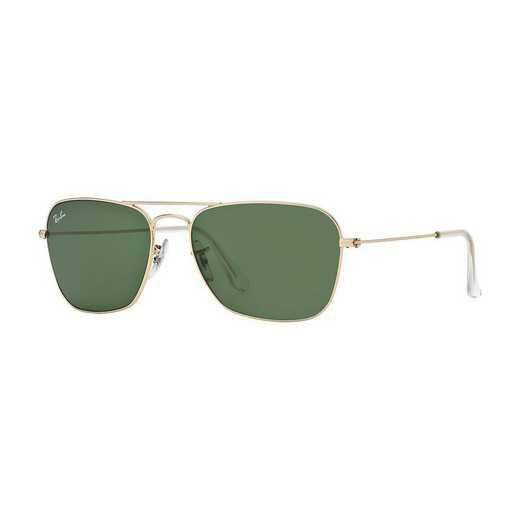 0RB313600158: Caravan Sunglasses -  Gold Shiny/Green