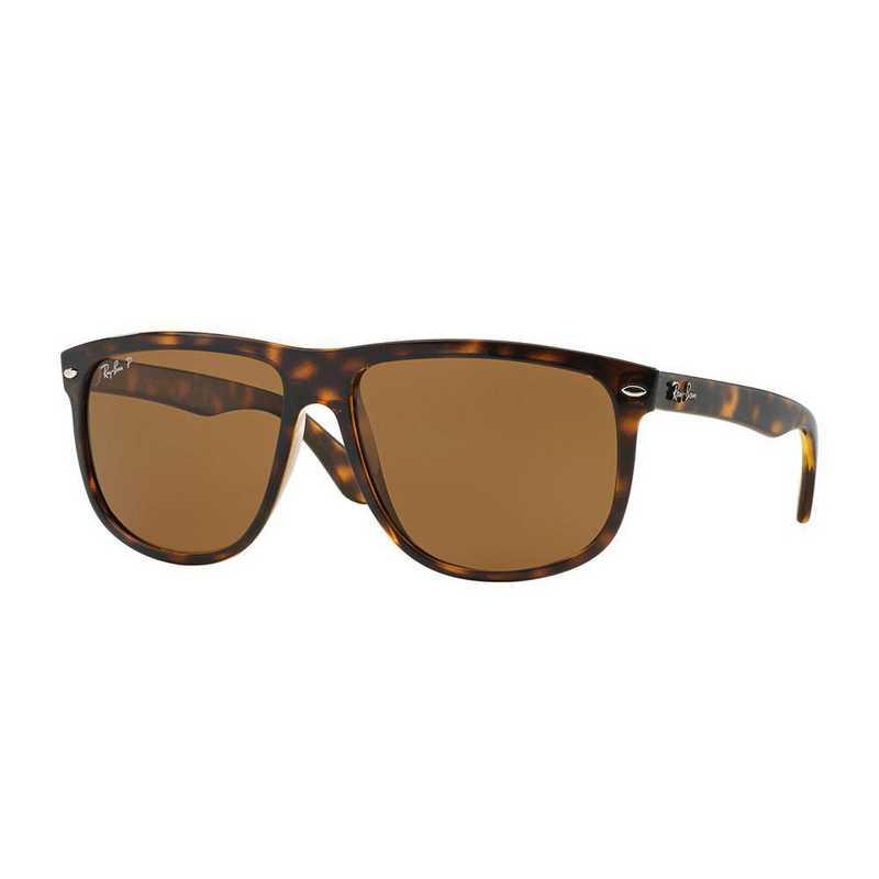 0RB41477105760: Polarized Square Sunglasses - Light Havana/Brown