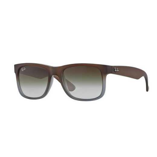 0RB41658547Z51: Justin Sunglasses - Matte Dark Brown