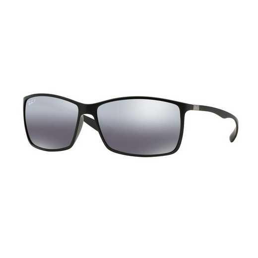0RB4179601S8262: Polarized Liteforce Sunglasses - Black/Silver Mirror