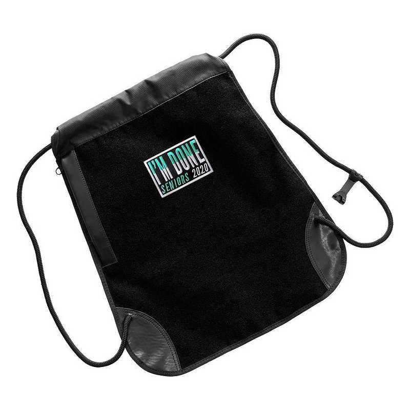 K022321: PatchSack Drawstring Bag w/ Seniors 2021 Patch