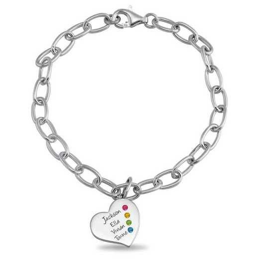 Mother's Heart Bracelet with 1-4 Stones and Engravings – Always Heart