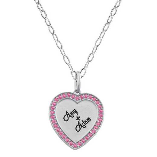 Personalized Heart-Shaped Couples Pendant