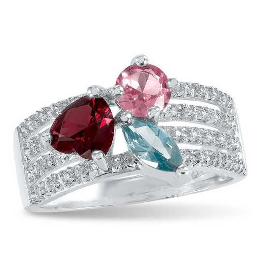 Women's Princess-Cut Birthstone Ring - Touchstone Nora