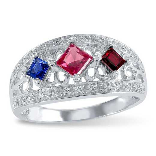 Touchstone Eleanor Three Stone Ring