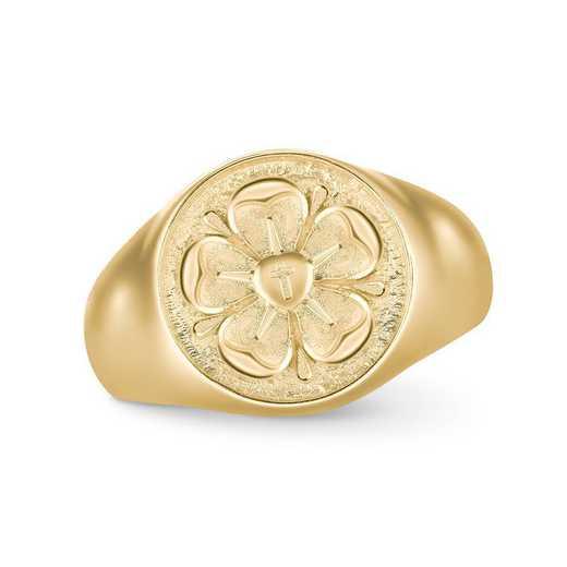 Ladies' FaithCrest Round Personalized Ring