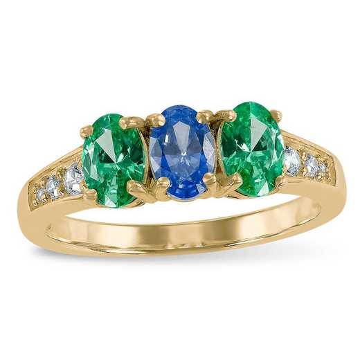 Prelude Intensify Three Stone Ring with Zirconia from Swarovski®