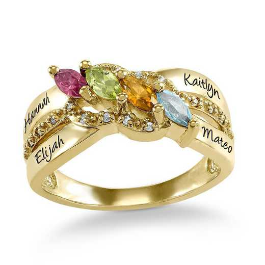 Mother's Four-Stone Personalized Ring: Ivy