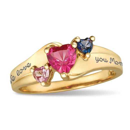 Women's Triple Heart Promise Ring: Jewel