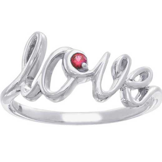 "Personalized ""Love"" Script Ring"