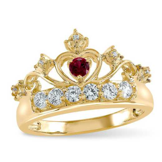 ArtCarved Touchstone Crown Birthstone Ring: Mia